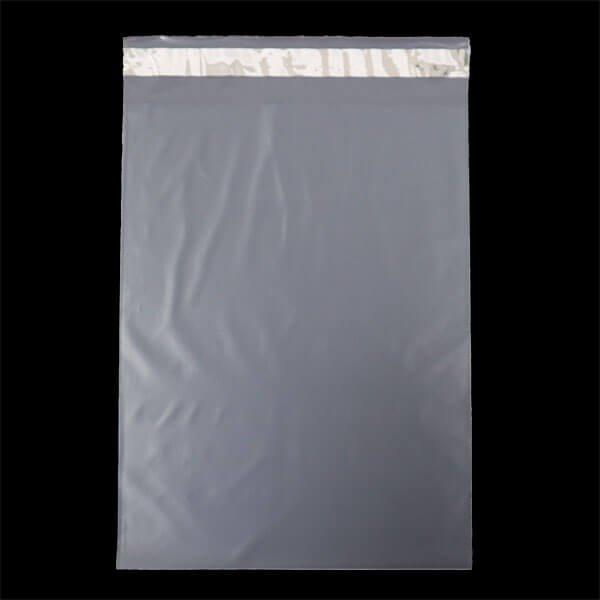 画像1: 宅配ビニール袋 A4サイズ グレー 250x330+50mm #60【100枚】 (1)