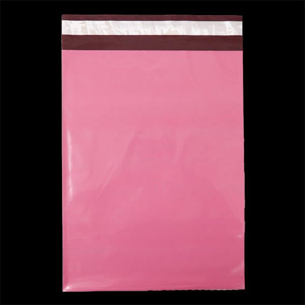 画像1: 宅配ビニール袋 A4サイズ ピンク 250x330+50mm #60【100枚】 (1)