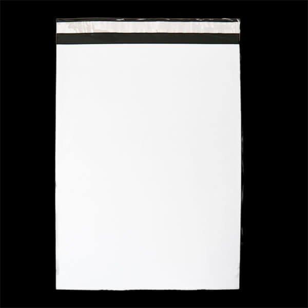 画像1: 宅配ビニール袋 A3サイズ 白 340x450+50mm #60【100枚】 (1)