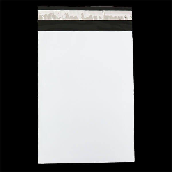 画像1: 宅配ビニール袋 B5サイズ 白 190x260+50mm #60【100枚】 (1)
