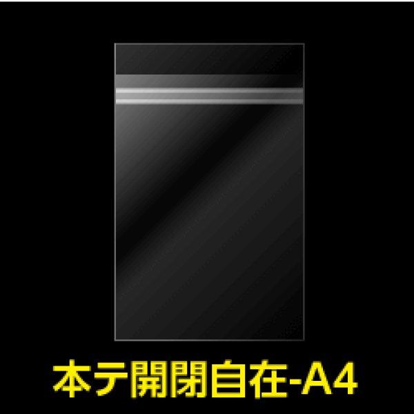 画像1: #30 OPP袋 本体側開閉自在テープ付 A4用【100枚】 (1)