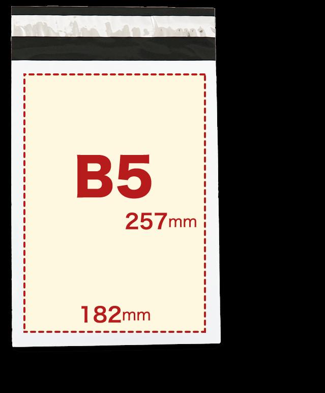 宅配ビニール袋白B5